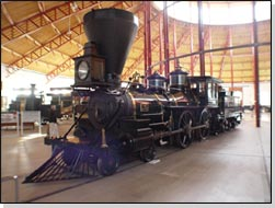 Restored locomotive in the Museum, among 7 others