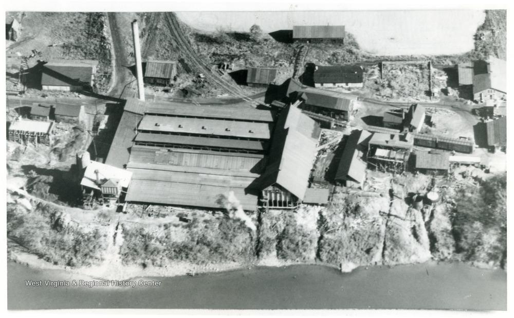 Aerial view of Dickinson Salt Works