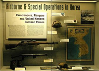 This display talks about the Airborne's role in the Korean War.