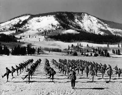Soldiers training at Camp Hale