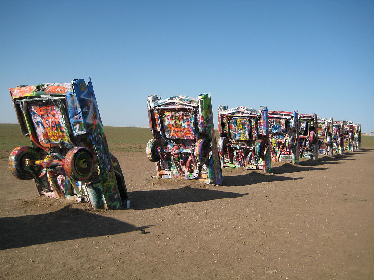 Example of what to expect at Cadillac Ranch