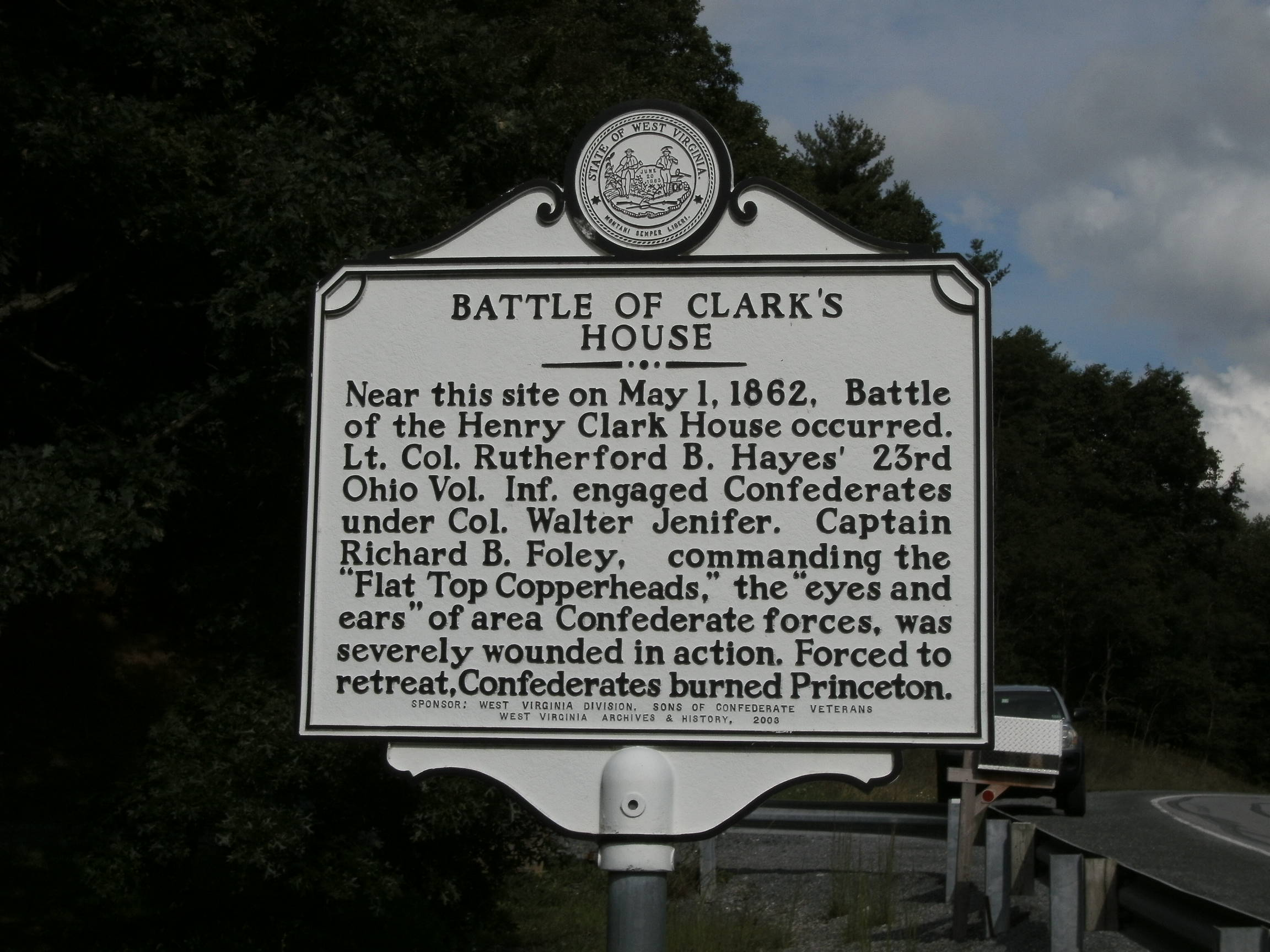 Historic marker.  (Photo by Steven Hart)