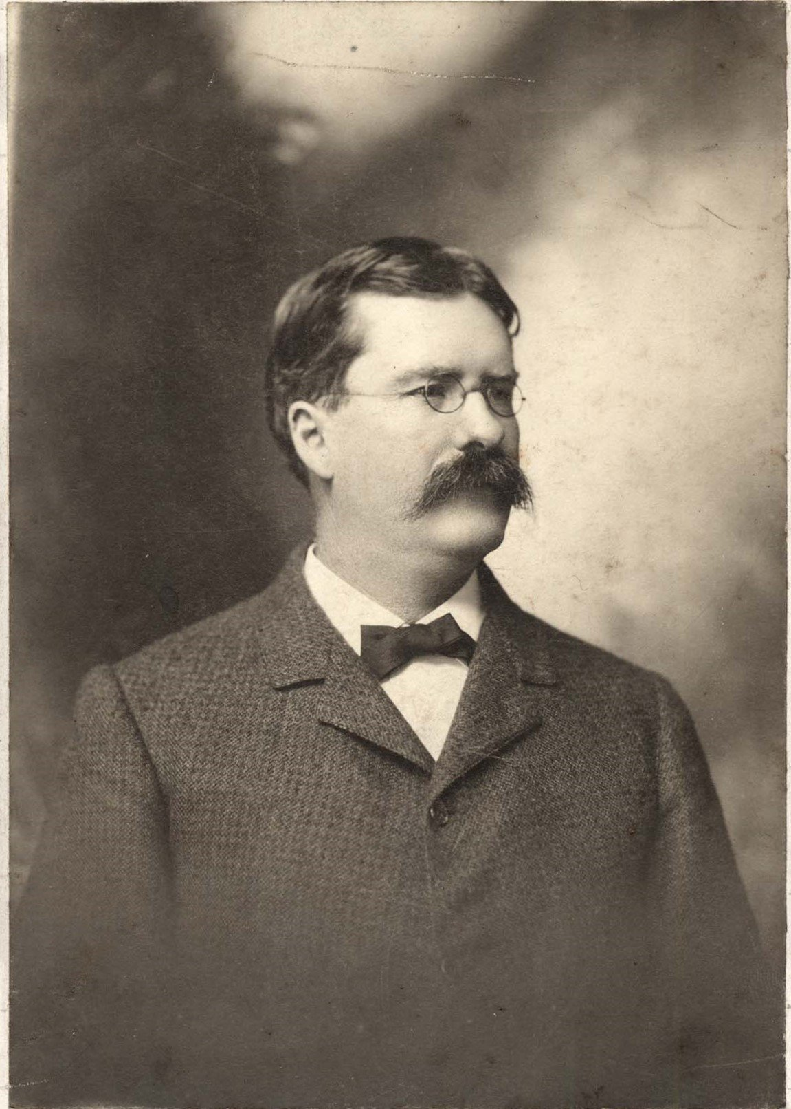Frank Bliss Enslow (1853-1917) was a successful attorney and businessman; he was reputed to be Huntington's first self-made millionaire. Image courtesy of Marshall University Special Collections.