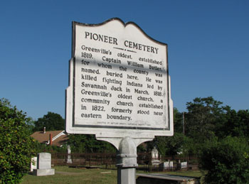 Pioneer Cemetery Historic Marker