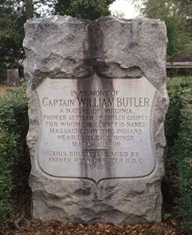 Captain William Butler's Grave in Pioneer Cemetery