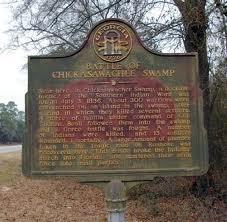 Battle of Chickasawachee Swamp Marker