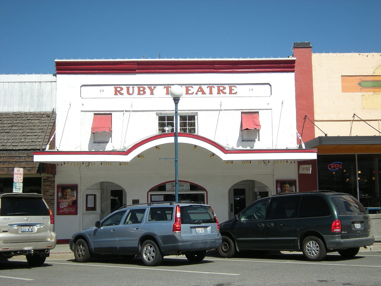 Ruby Theatre was built in 1914 and is listed on the National Register of Historic Places.