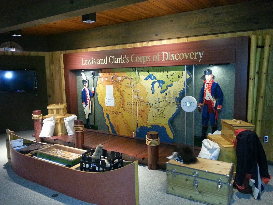The Lewis and Clark expedition exhibit at the Alum Creek Visitor center.