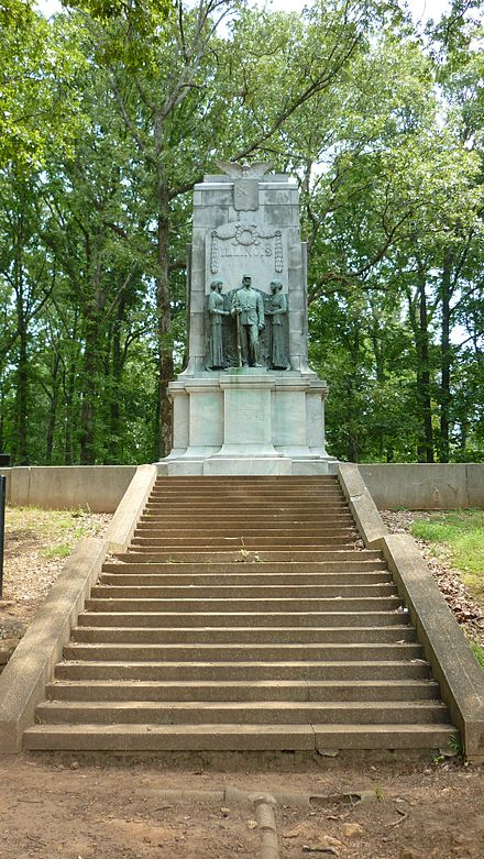 A monument to Illinois Soldiers can be found at Cheatham Hill.
