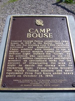 Camp Bouse Historical Marker