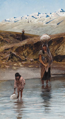 """Zuni Watering Hole"" by Henry François Farny"