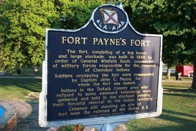 Fort Payne Historical Marker