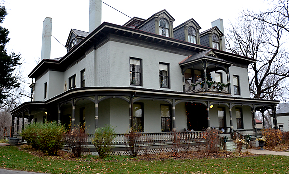 The Bingham-Waggoner house was built in the 1850s and is one of the more beautiful and historic homes in Independence.