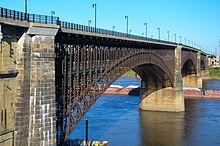The Eads Bridge present day.