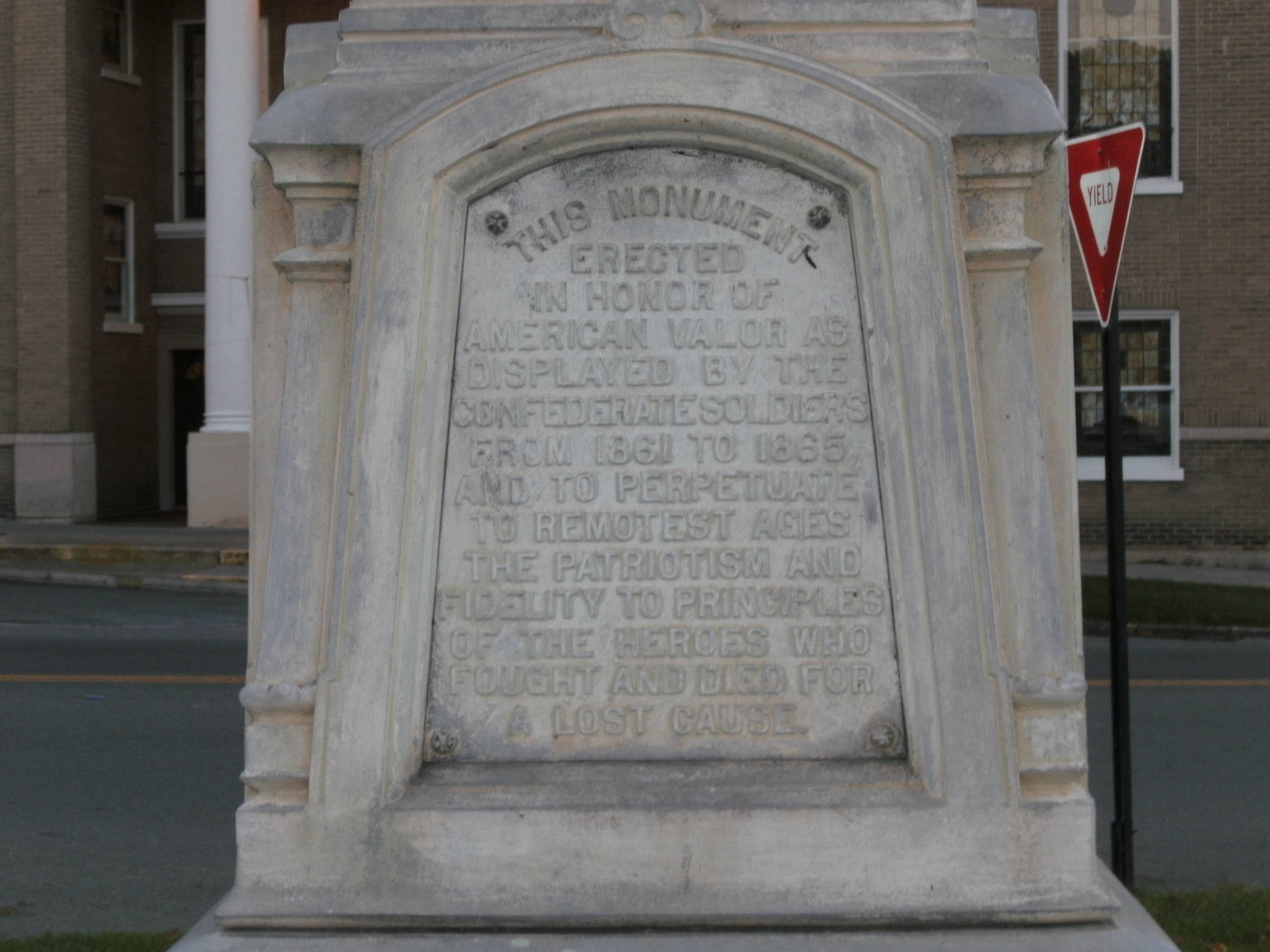 Front side inscription.  (Photo by Steven Hart)