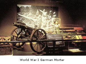 A cannon that is on display in the Military Museum