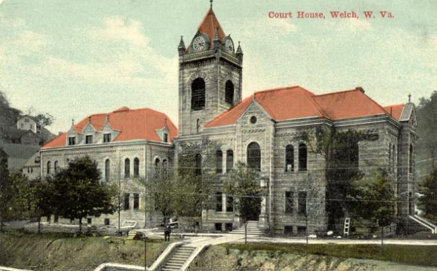 Postcard of the Courthouse.