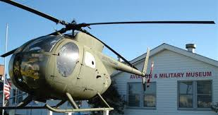 Helicopter on Display in Front of Museum