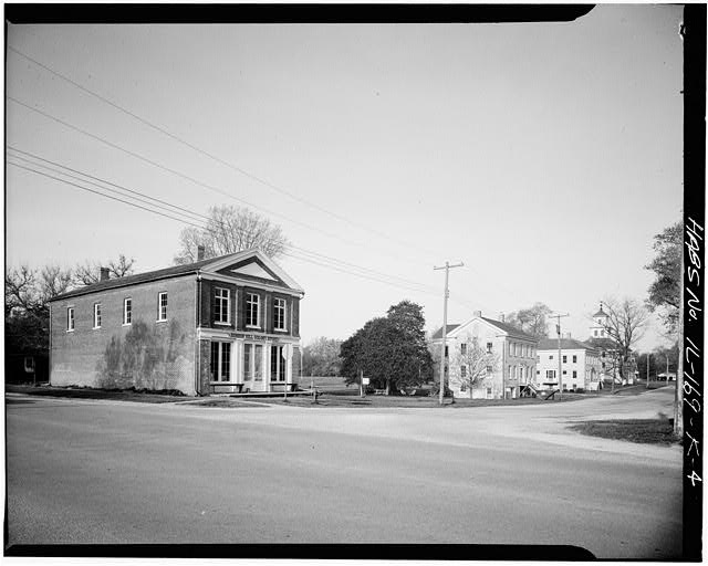 The Colony Store in 1933 with a view of the Administrative buildings and hotel in the background.