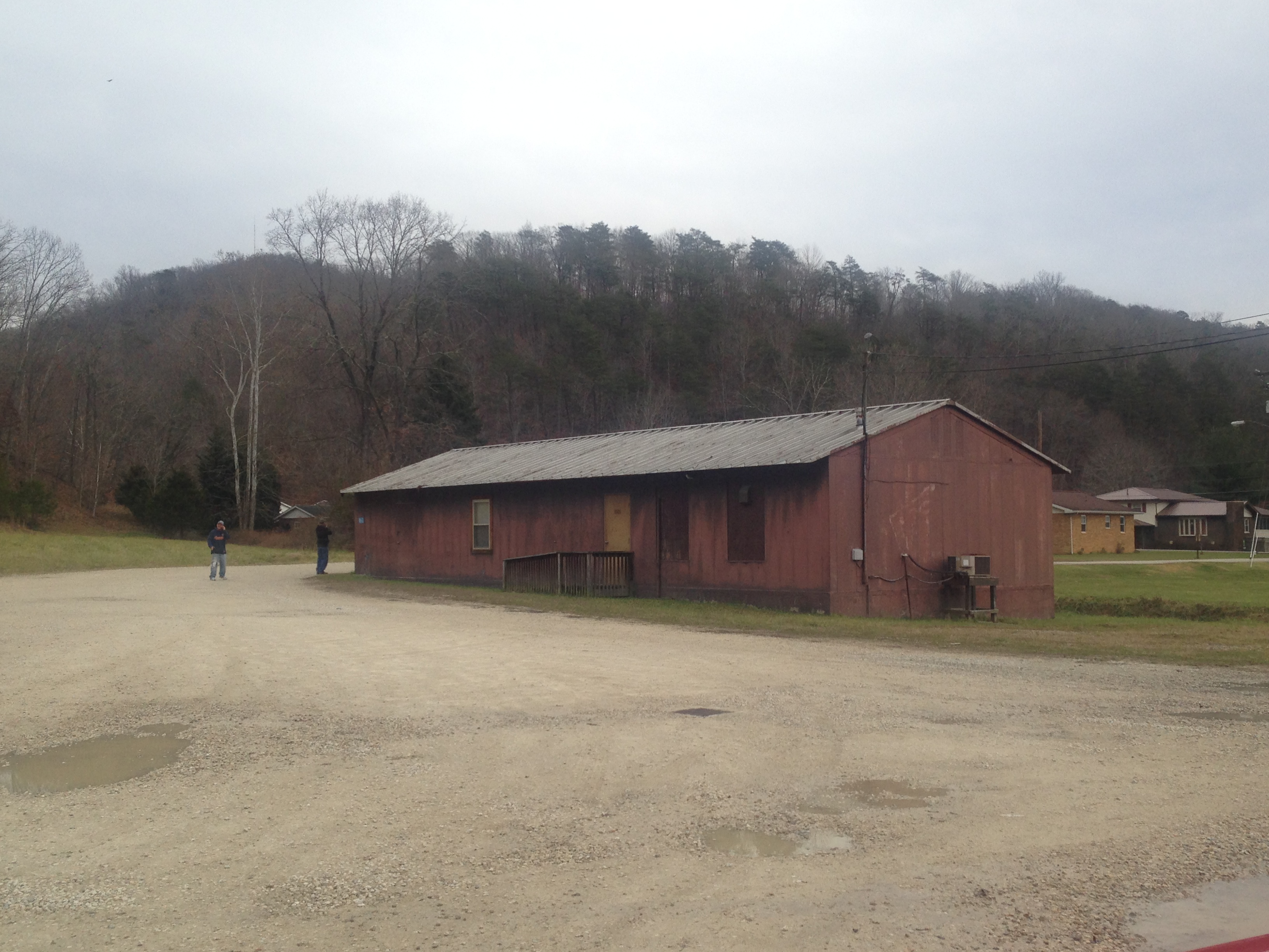 Cuzzy One Room School House located behind the Lincoln County Board of Education. Now used as storage.