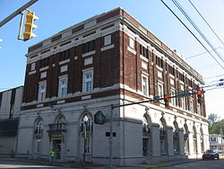 The Masonic Lodge in downtown Parkersburg