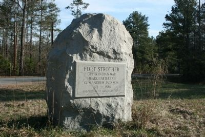 Fort Strother was a supply depot and used as a defensive stronghold during the Creek War