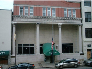 The front of the Elks Lodge.