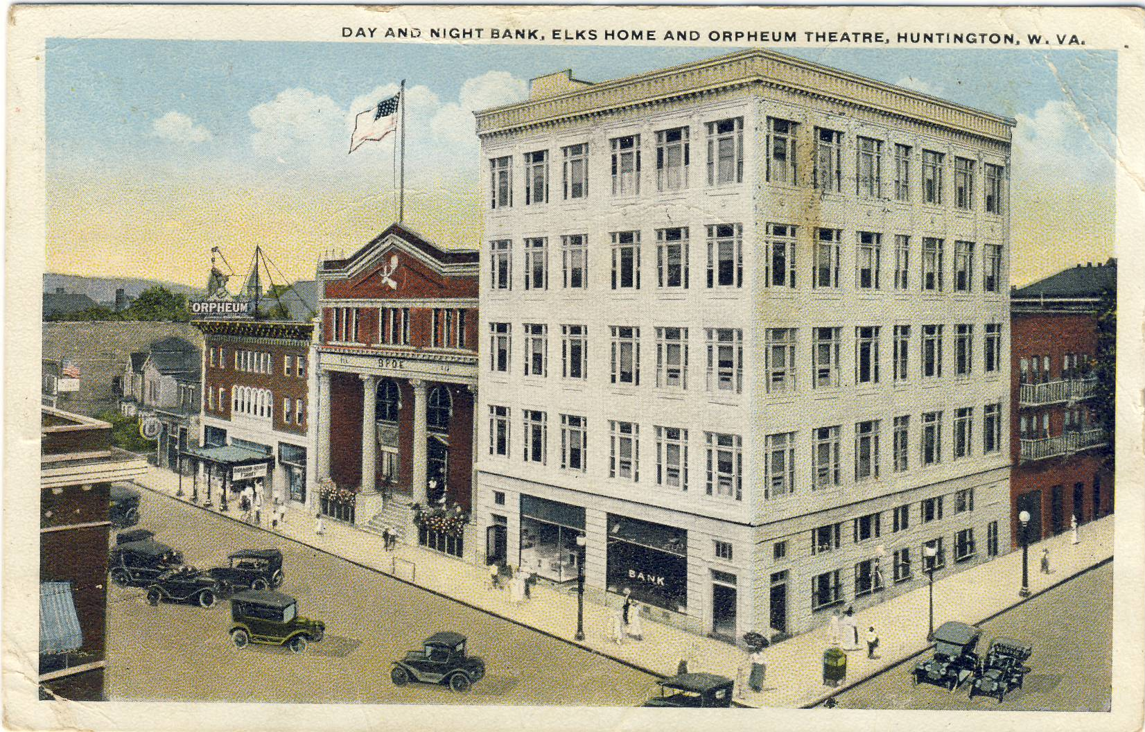 Elks Lodge in the Middle.