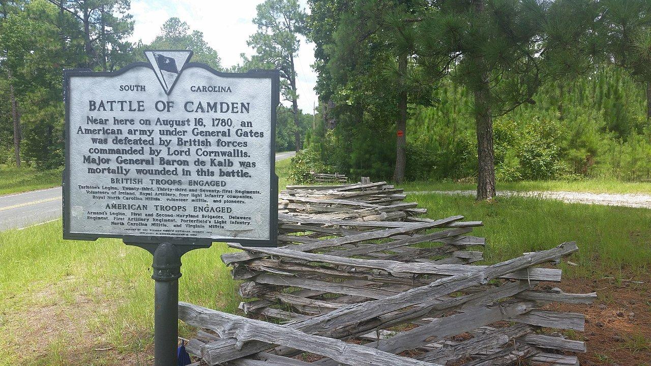 Battle of Camden Historical Marker