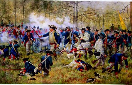 artist rendering of the battle of Camden