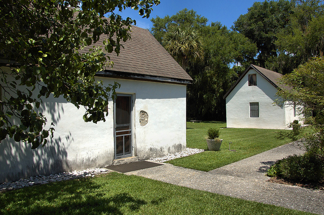 One of the slave cabins where the Cassina Garden Club meets