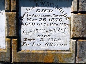 Specific grave marker for Alexander Reynolds