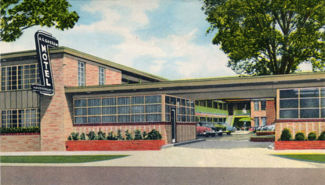 Postcard view of the motel when it first opened its doors in 1954.