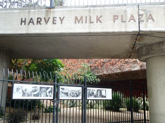 Harvey Milk Plaza is named in honor of the first openly-gay elected official in San Francisco.