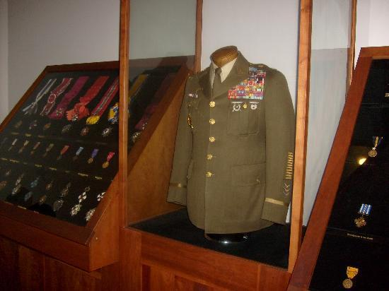 One of many MacArthur uniforms featured.