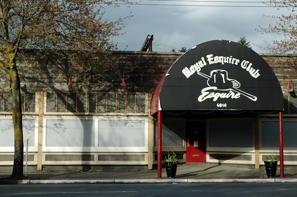 Captured during the few sunny days in Seattle is the current location of the Esquire Club. Bought in 1985, words to describe the property would be abandoned, unkempt, and unwelcoming. After more than a few man-hours, the property began to show potential and look more like a social club than a literal rats' nest.