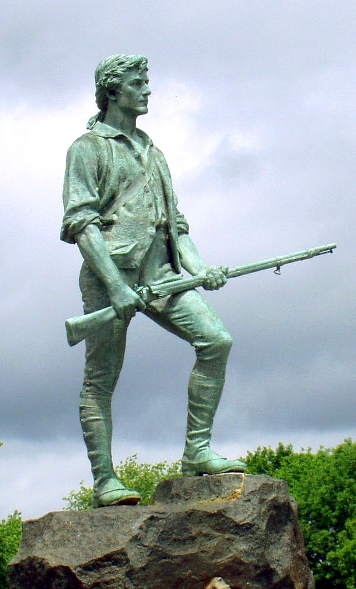 The Lexington Minuteman has stood this ground since the statue's dedication in 1900.