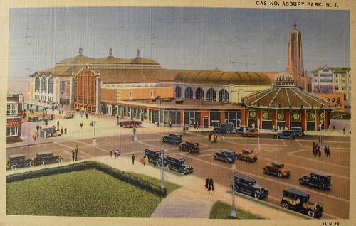 1930's postcard of the Casino and Carousel in Asbury Park.
