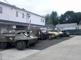 Vehicles on display at the museum