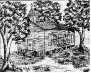 Image of what the 1st church was thought to look like