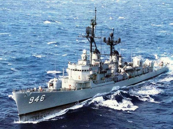 The Edson at sea