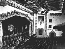 This picture of the stage was taken when the theater opened in 1927