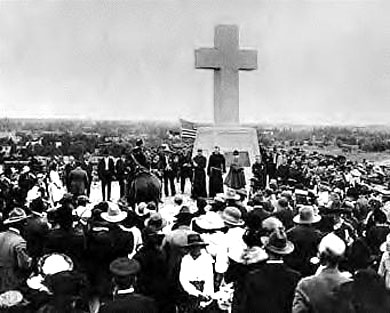 The Cross of the Martyrs was dedicated on September 15, 1920