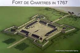 View of how the fort appeared in 1767.