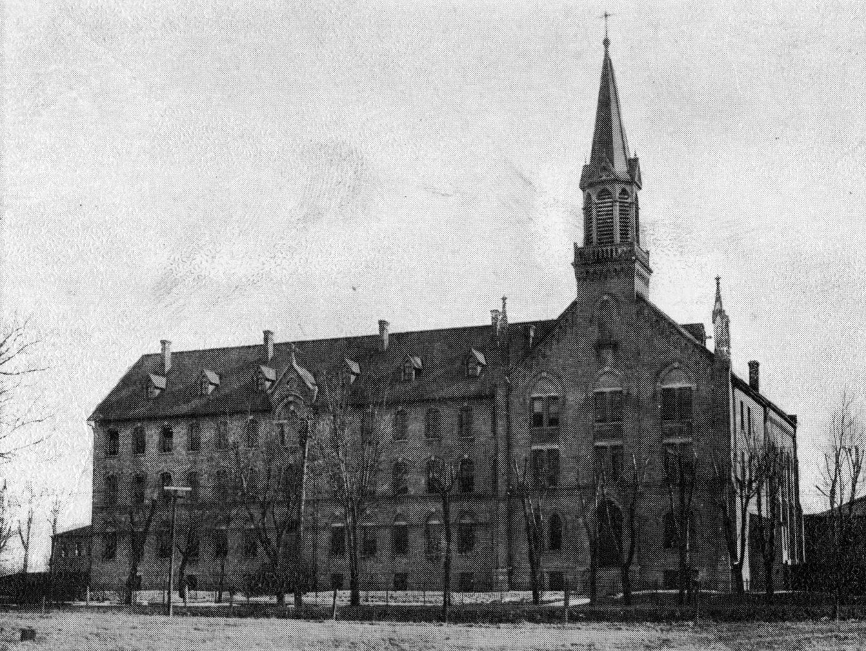 CSA motherhouse as it appeared in 1887 after the chapel wing was added..