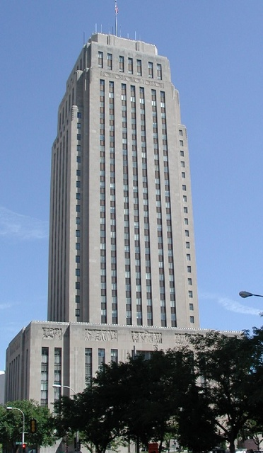 The city hall construction project employed hundreds of workers between 1931 and its dedication on October 25, 1937.