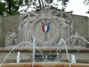 The Eagle Scout Memorial Fountain is located in Hyde Park and was dedicated in 1968.