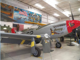 The museum is currently restoring a P-51 Mustang