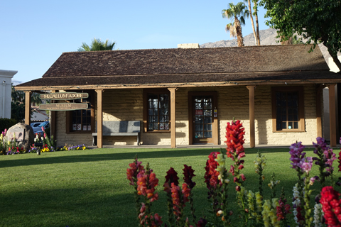 The Palm Springs Historical Society is located on The Village Green, a park-like setting located near the hotels and shops along Palm Canyon Drive.