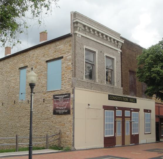 Restoration efforts are underway to preserve the historic structure and build a park next to the building. The historic building now has a temporary facade as well as a mural on the side of the building.